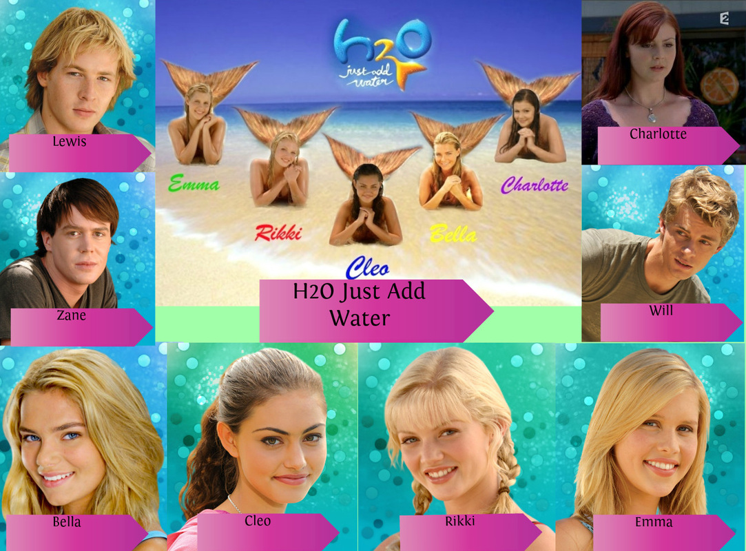 Cleo  Bella  Rikki  Emma   H2o Just Add Water Emma And Bella